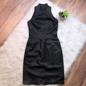 Vintage chetta B size 2 black leather dress